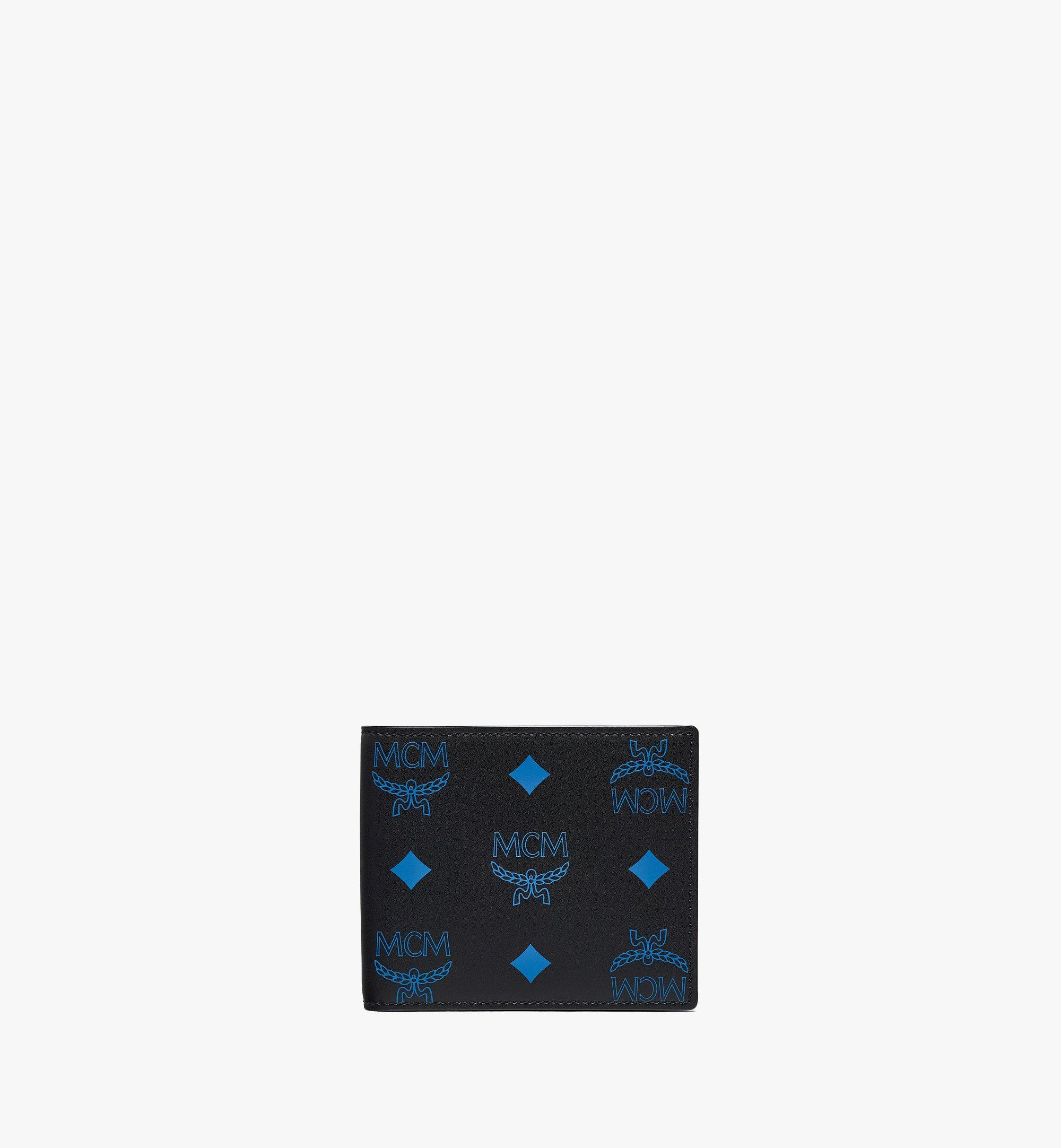 MCM Bifold Wallet in Color Splash Visetos Blue MXSBASX03H9001 Alternate View 1