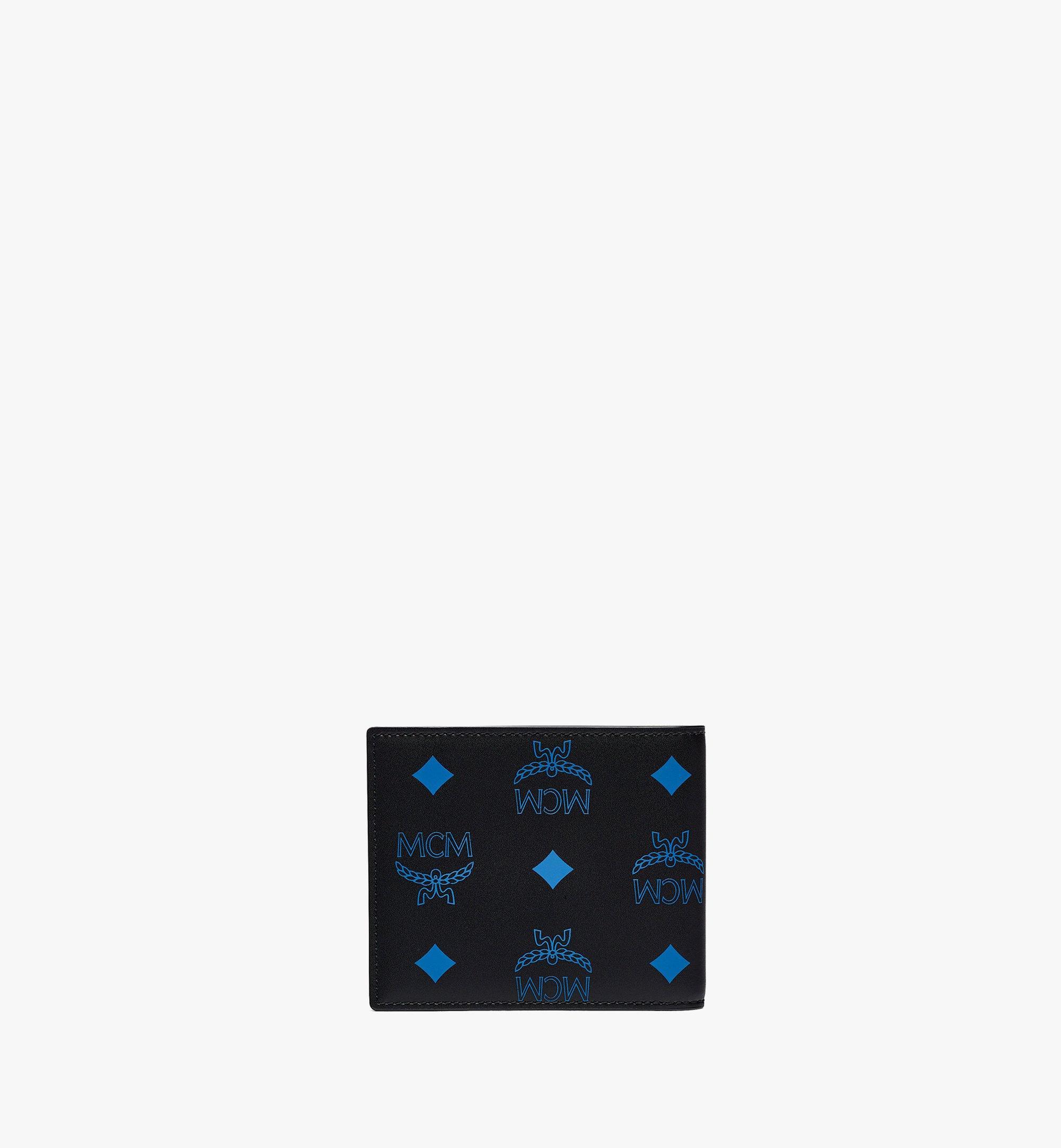 MCM Bifold Wallet in Color Splash Visetos Blue MXSBASX03H9001 Alternate View 2
