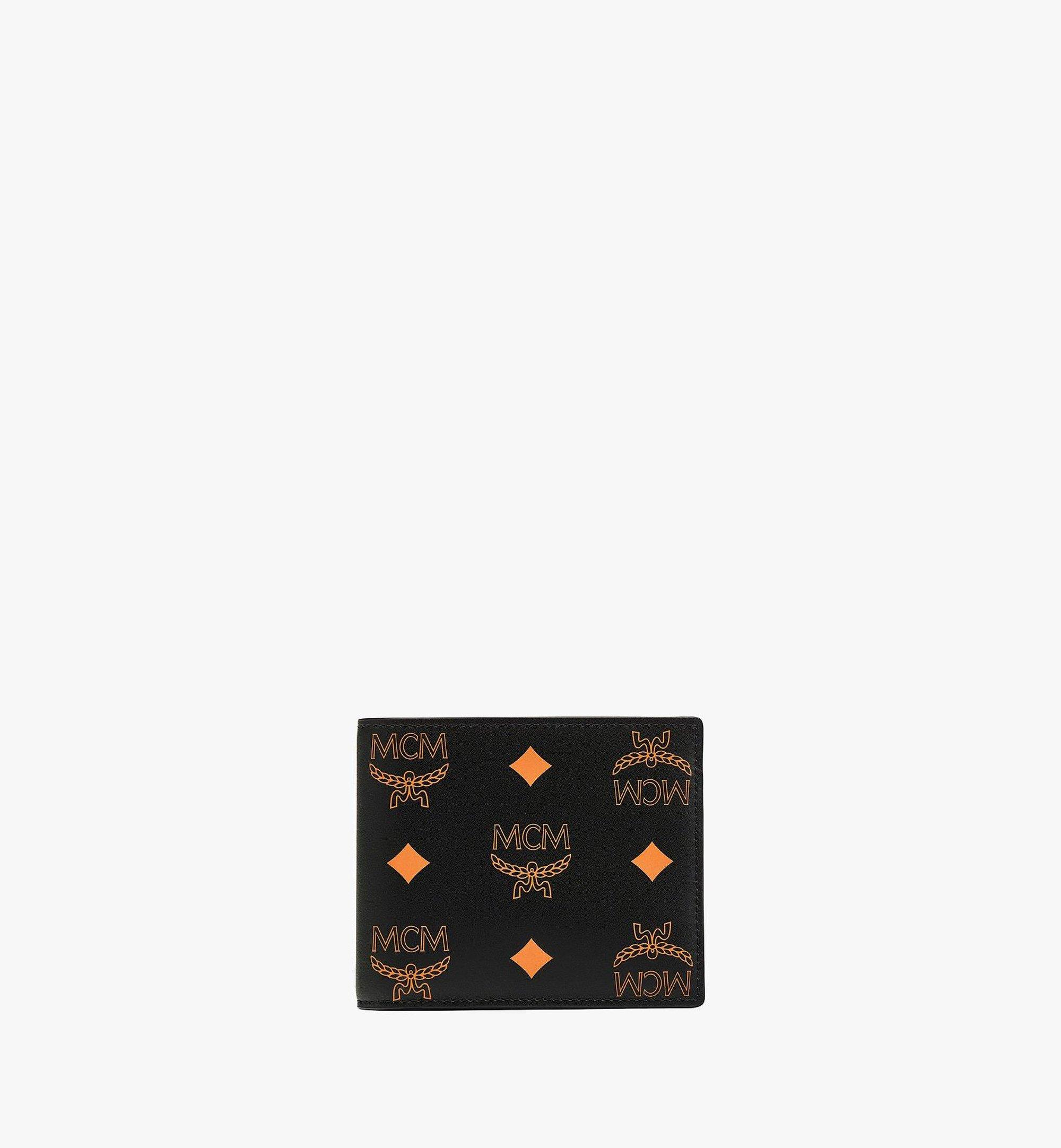 MCM Bifold Wallet in Color Splash Visetos Orange MXSBASX03O9001 Alternate View 1