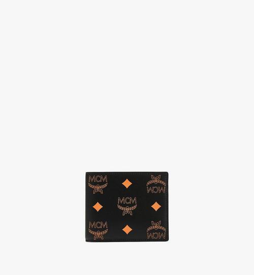 Portefeuille à deux volets en cuir Color Splash Logo