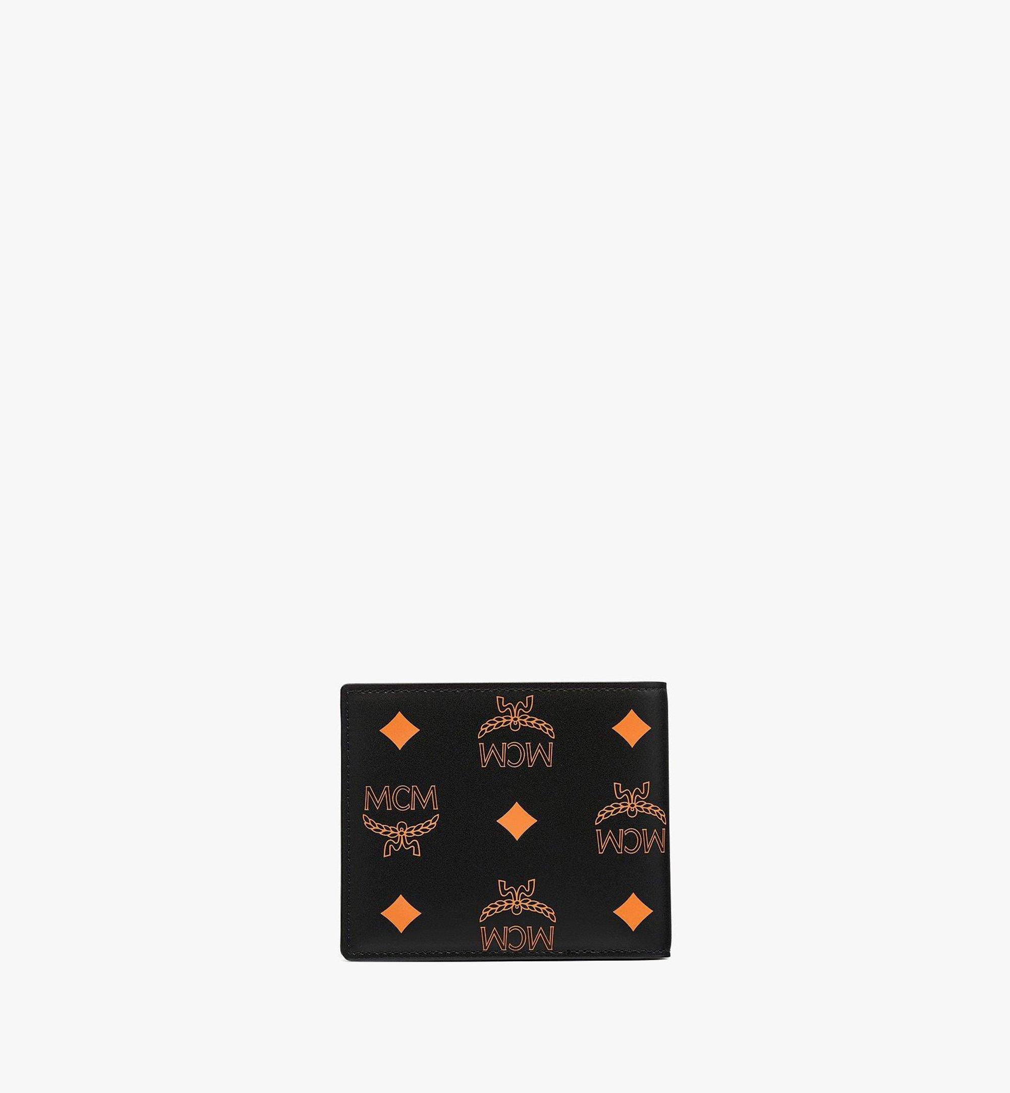 MCM Bifold Wallet in Color Splash Visetos Orange MXSBASX03O9001 Alternate View 2