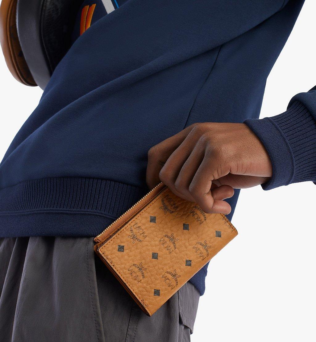 MCM Bifold Zip Card Wallet in Visetos Original Cognac MXSBSVI01CO001 Alternate View 2