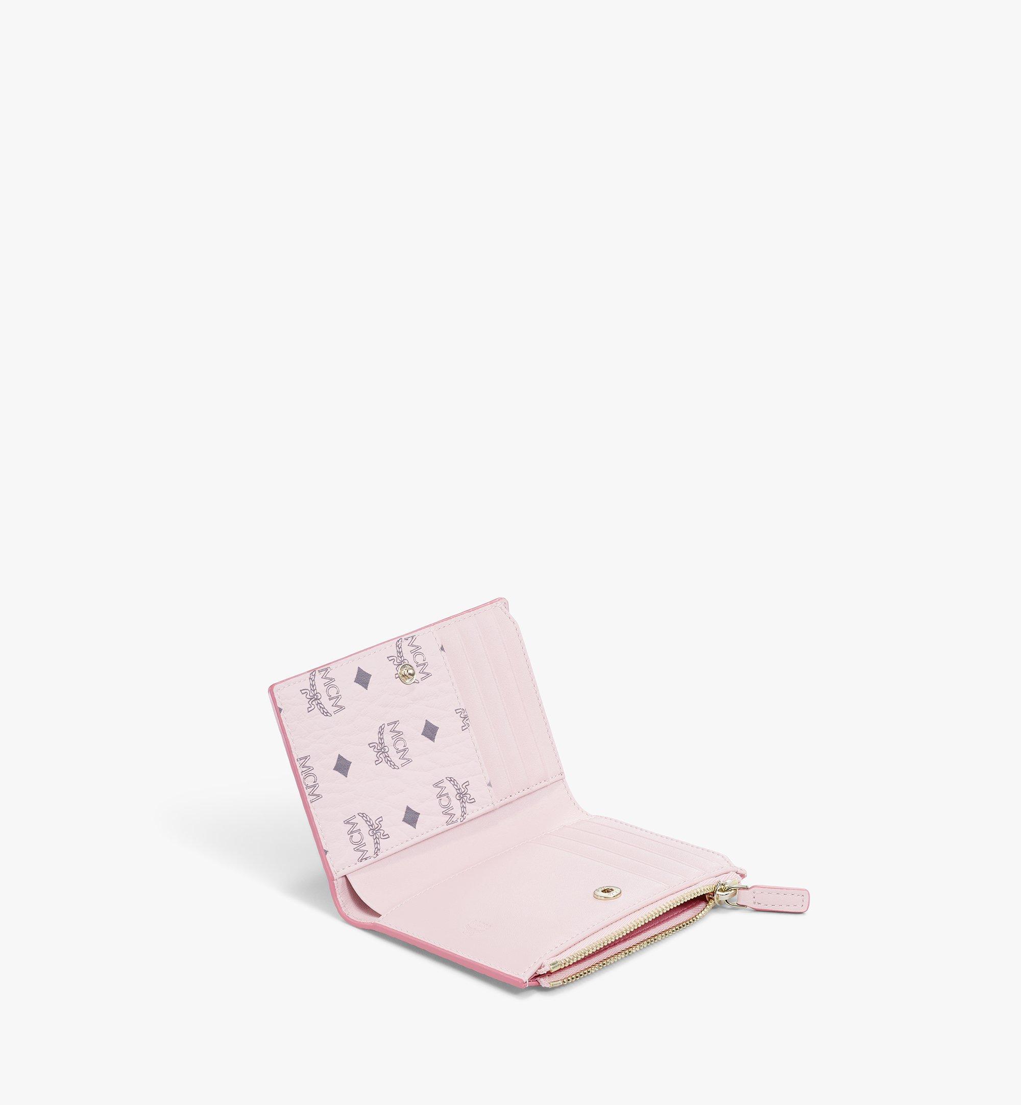 MCM Visetos Original 系列雙折拉鏈卡夾錢包 Pink MXSBSVI01QH001 更多視圖 1