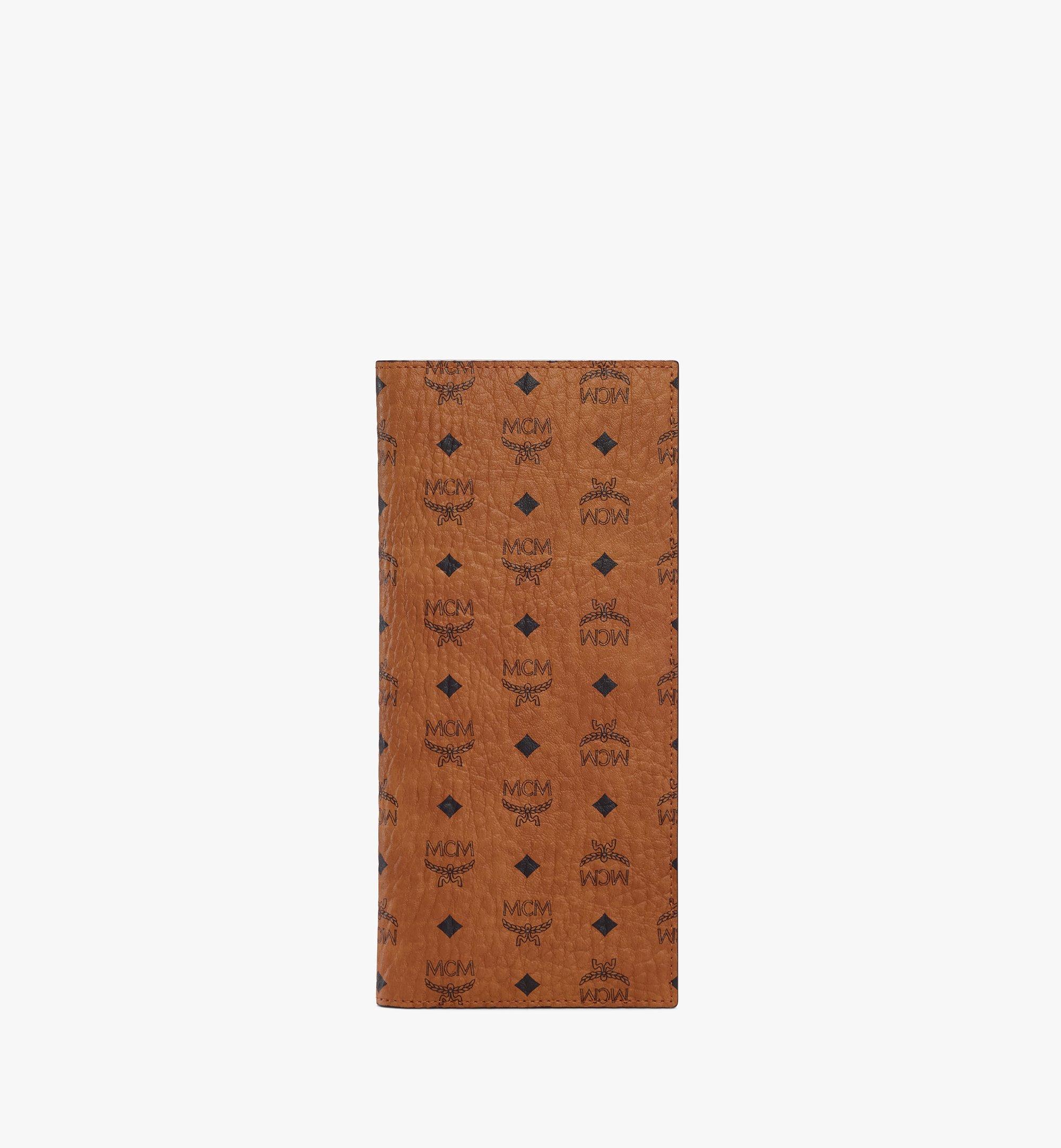 MCM Travel Wallet in Visetos Original Cognac MXVASVI02CO001 Alternate View 1