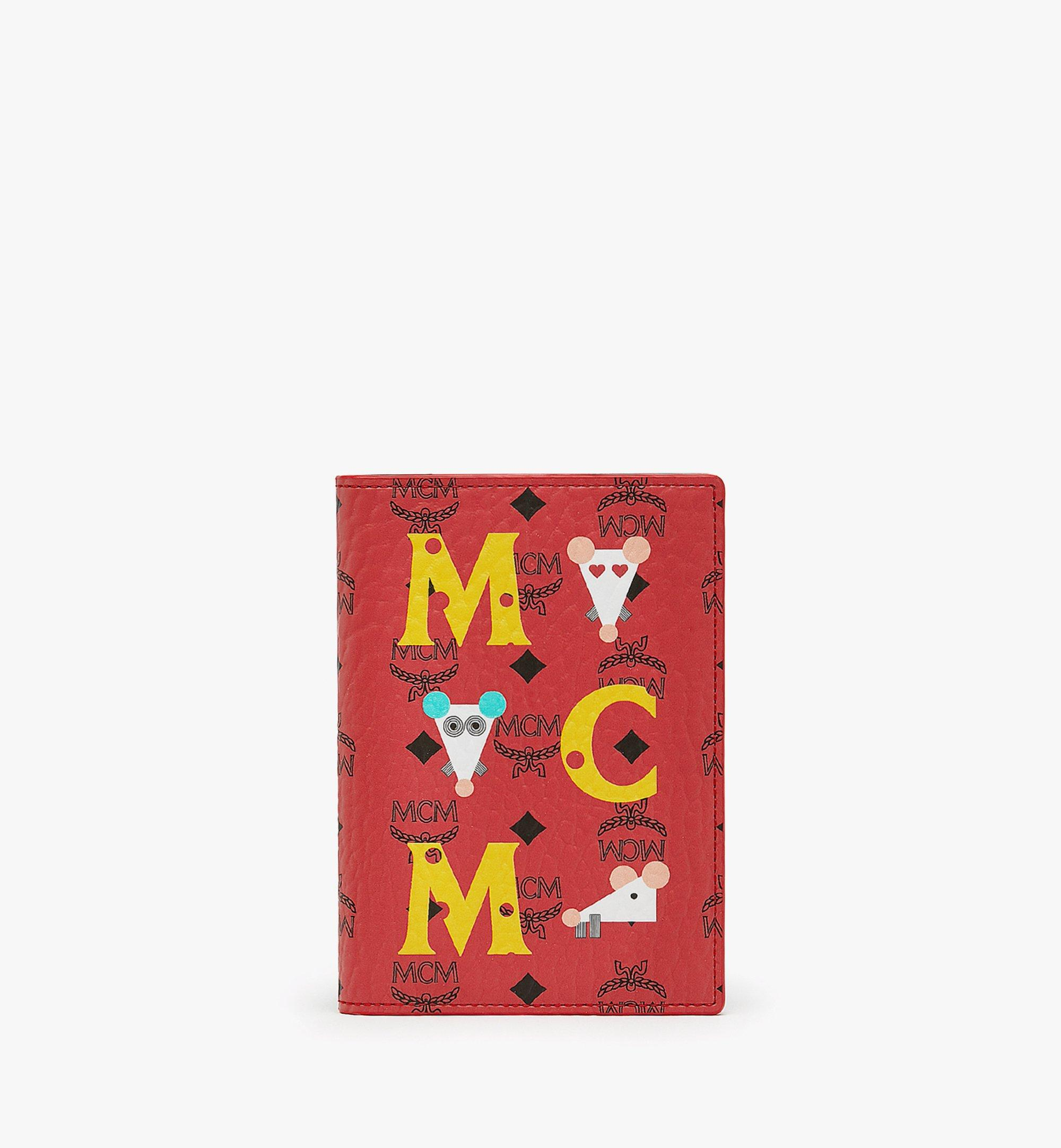 MCM Year Of The Mouse Passport Holder Red MXVASXL01RJ001 Alternate View 1