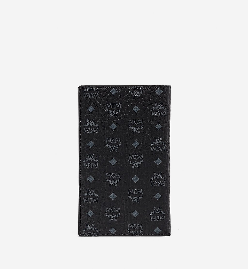 MCM Passport Holder in Geo Graffiti Visetos Black MXVBSSX01BK001 Alternate View 2