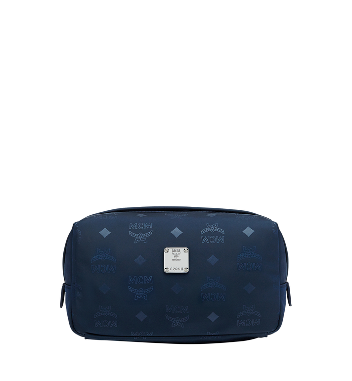 MCM Dieter Travel Pouch in Monogram Nylon AlternateView