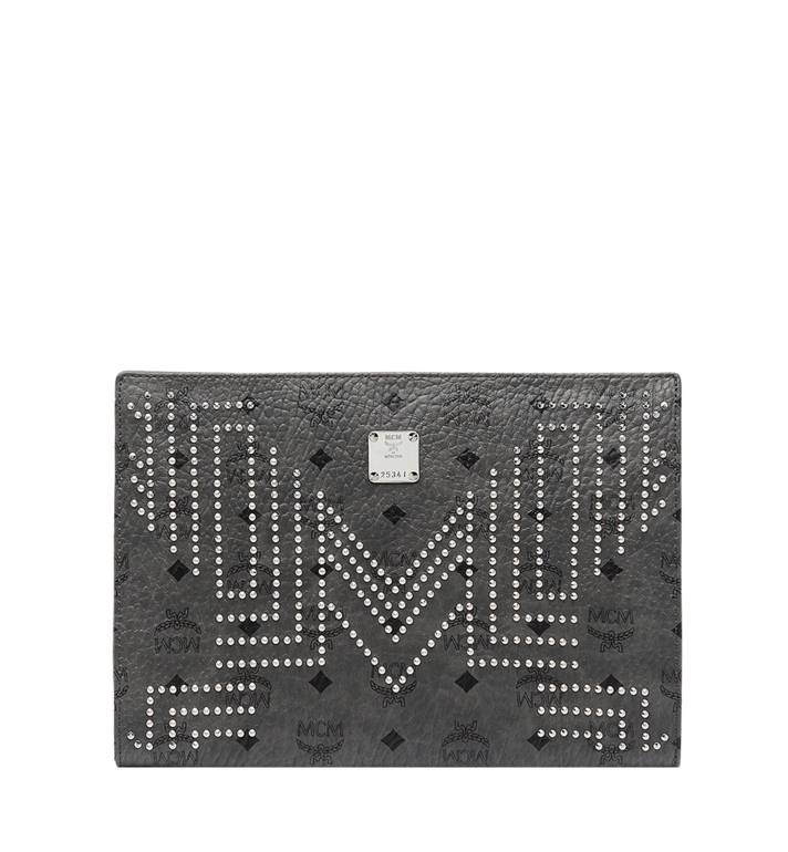 MCM Zip Pouch in Gunta M Studs Visetos MXZ8AVE70EP001 AlternateView