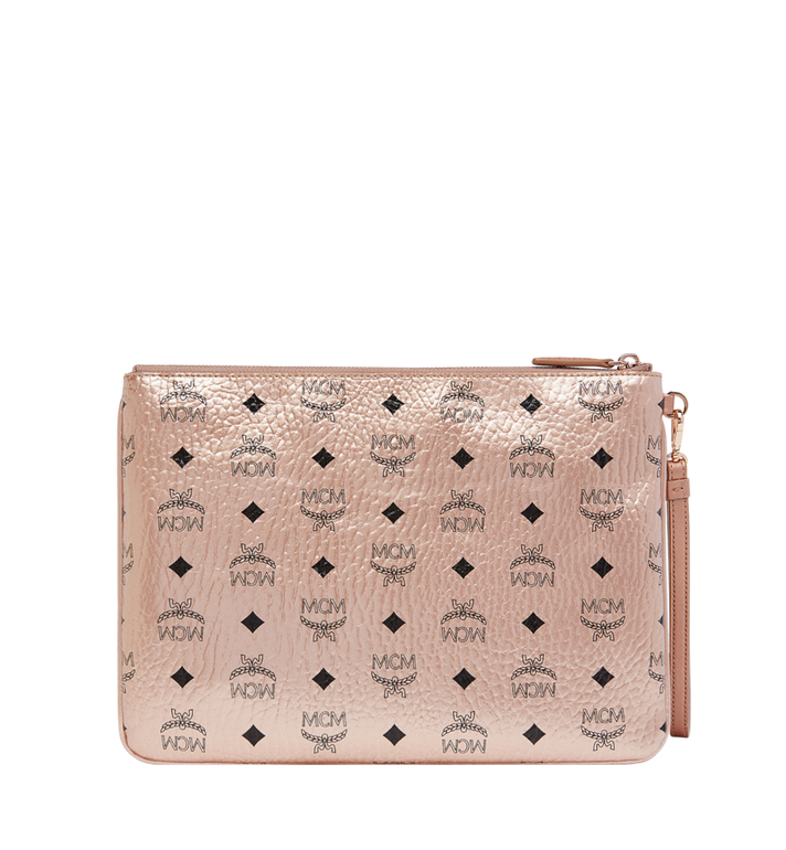 MCM Wristlet Zip Pouch in Visetos Original AlternateView3