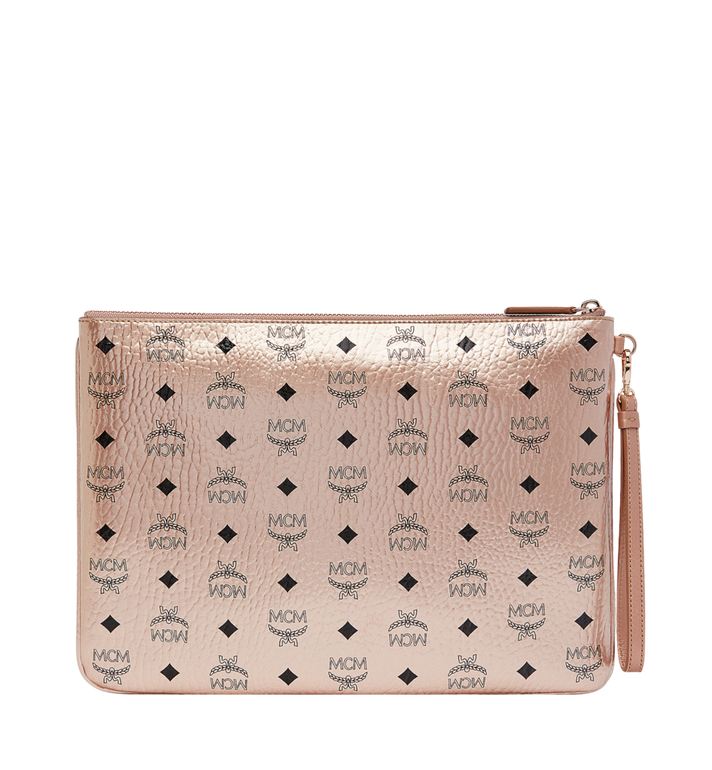 MCM Wristlet Zip Pouch in Visetos Original Alternate View 3