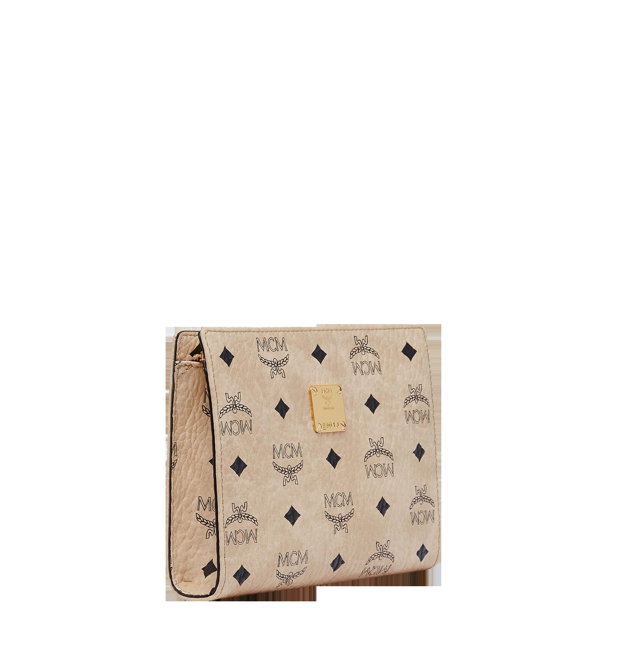 Small Tasche mit Reissverschluss in Visetos Original Beige