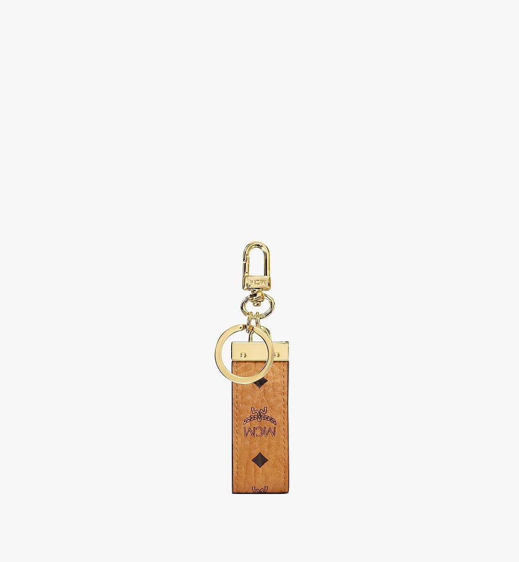MCM Key Ring in Visetos Original Cognac MXZ8SVI60CO001 Alternate View 2