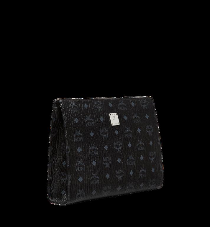 MCM Zip Pouch in Visetos Original Black MXZ8SVI70BK001 Alternate View 2