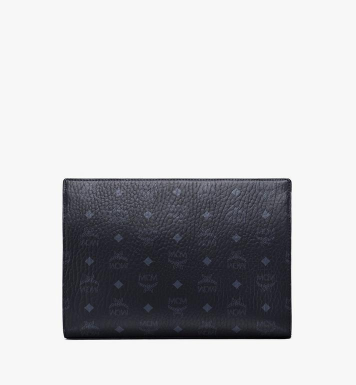 MCM Zip Pouch in Visetos Original Black MXZ8SVI70BK001 Alternate View 4