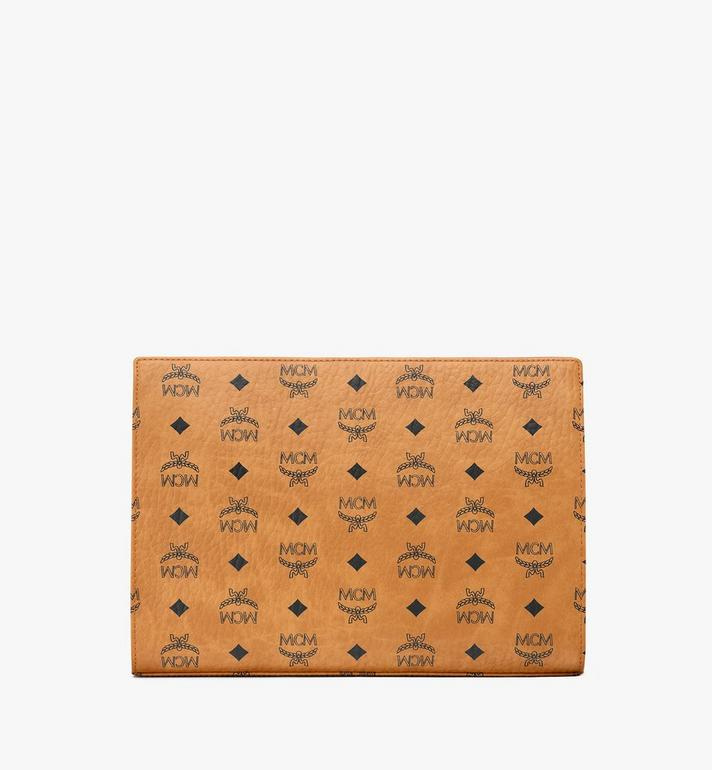 MCM Zip Pouch in Visetos Original Cognac MXZ8SVI70CO001 Alternate View 4