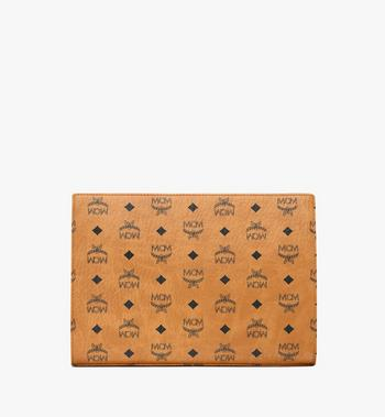 MCM Zip Pouch in Visetos Original Alternate View 4