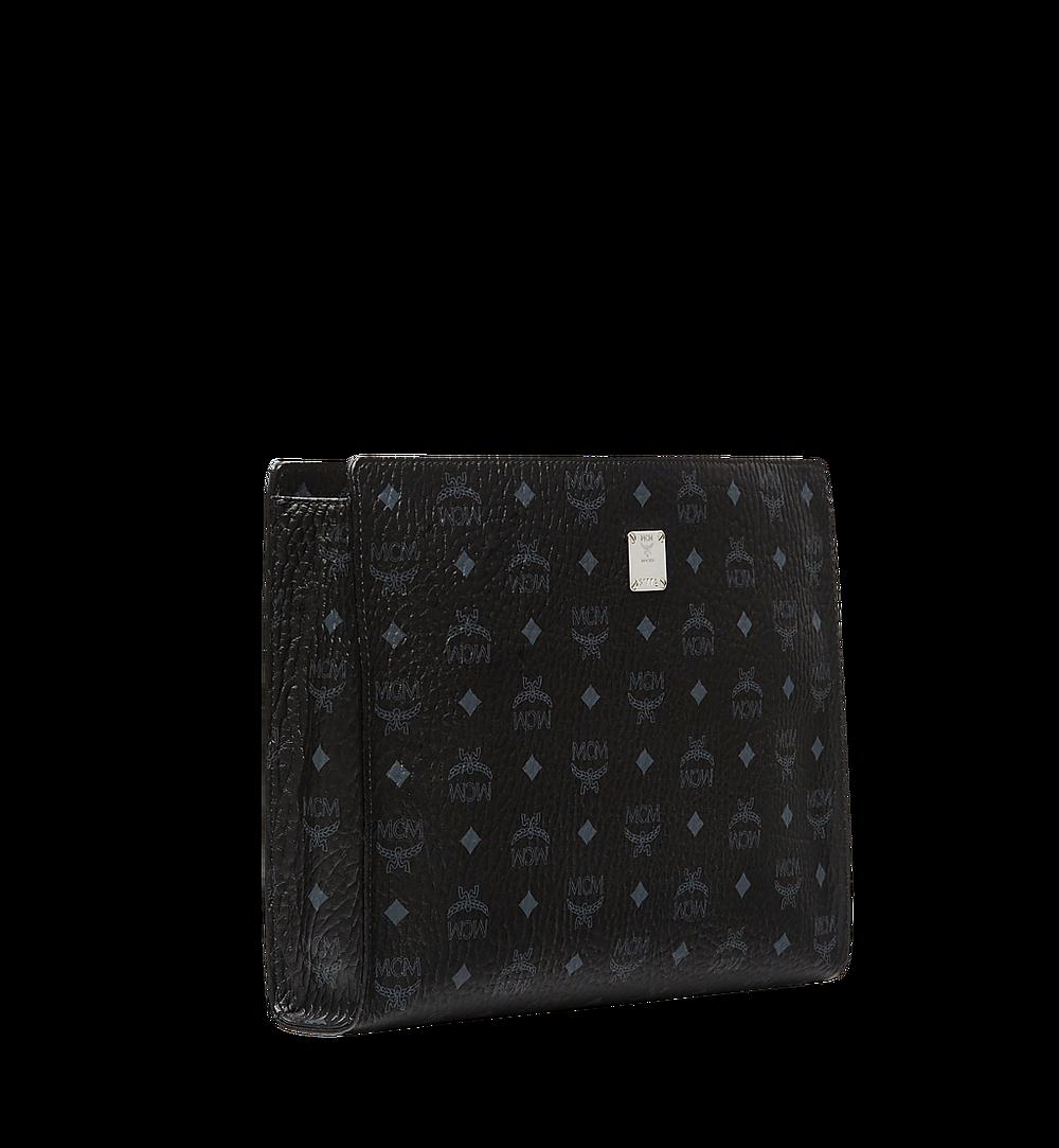 MCM Zip Pouch in Visetos Original Black MXZ8SVI71BK001 Alternate View 1