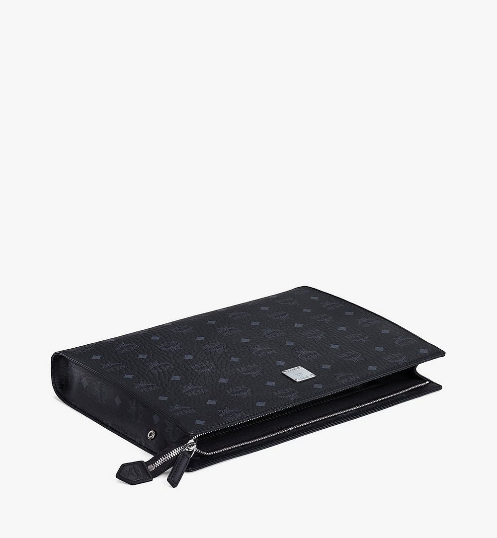 MCM 비세토스 오리지널 지퍼 파우치 Black MXZ8SVI71BK001 다른 각도 보기 2