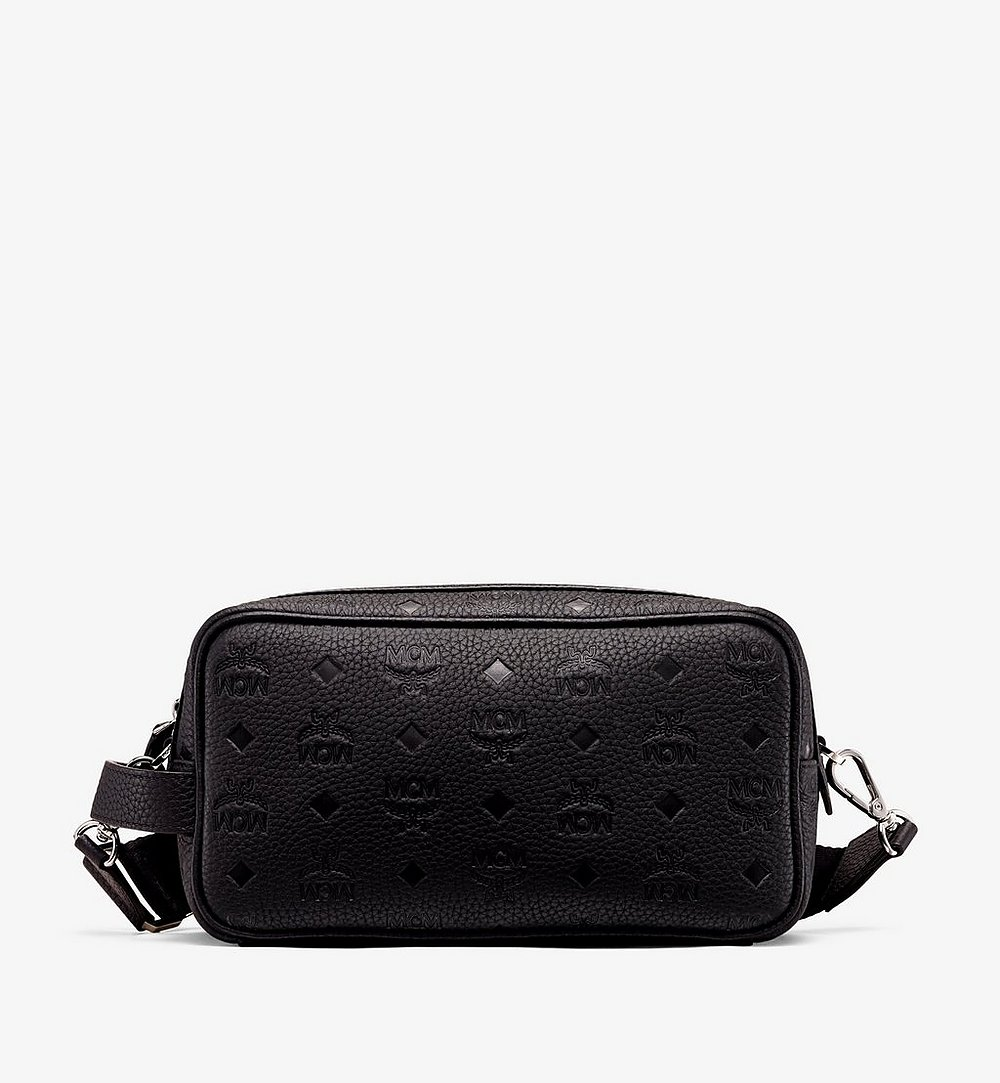 MCM Tivitat Wash Bag in Monogram Leather Black MXZ9ABT28BK001 Alternate View 1