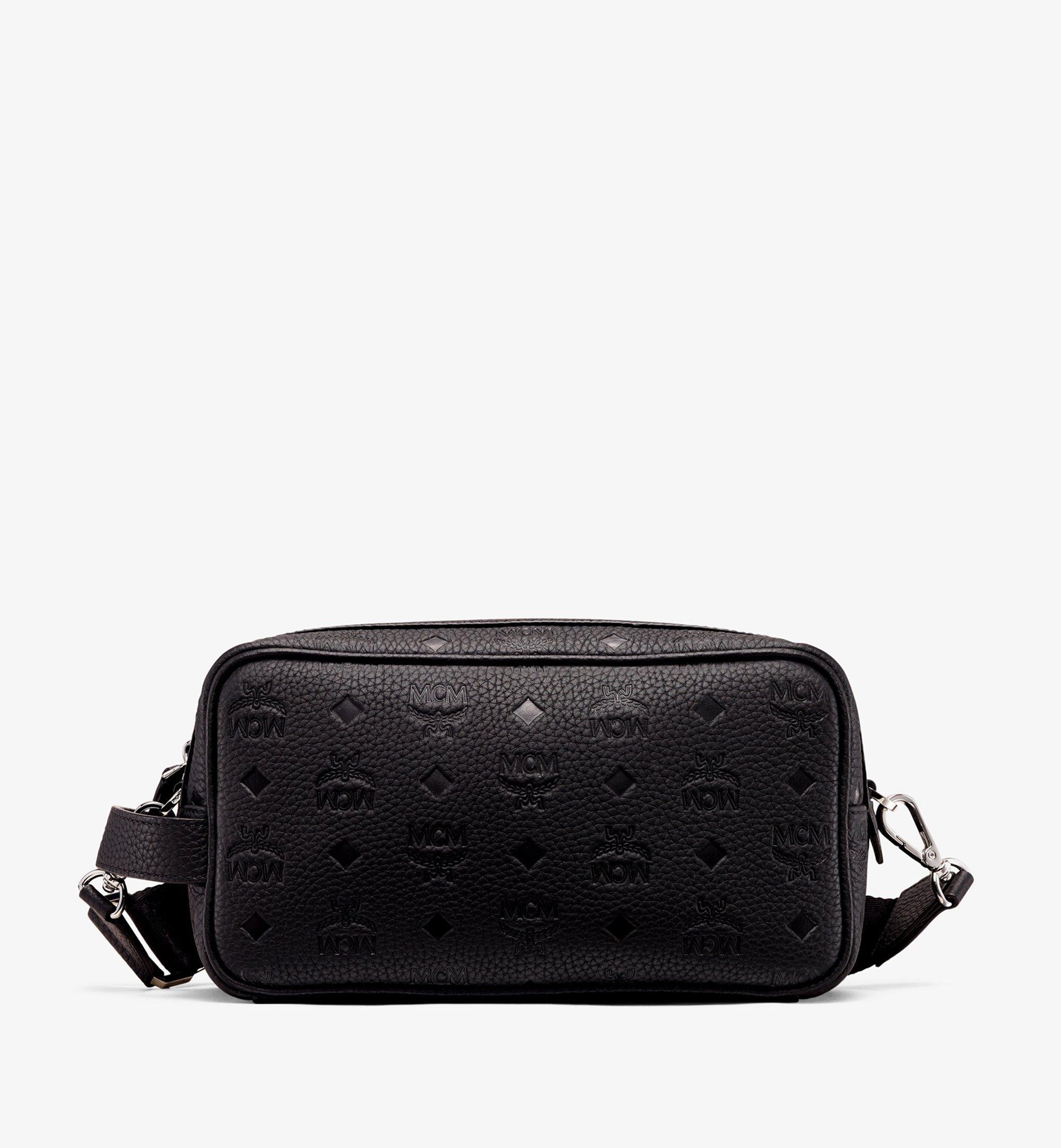 MCM Tivitat Wash Bag in Monogram Leather Black MXZ9ABT28BK001 Alternate View 1