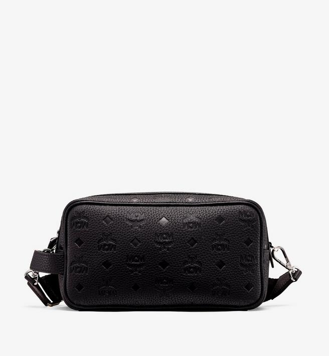 MCM Tivitat Wash Bag in Monogram Leather Alternate View