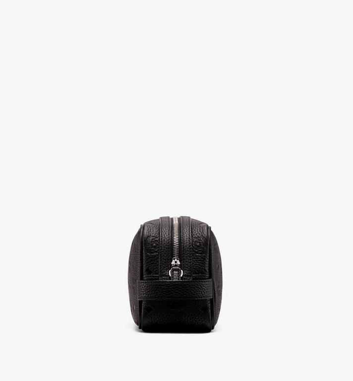 MCM Tivitat Wash Bag in Monogram Leather Black MXZ9ABT28BK001 Alternate View 2