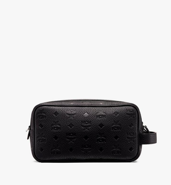 MCM Tivitat Wash Bag in Monogram Leather Alternate View 3