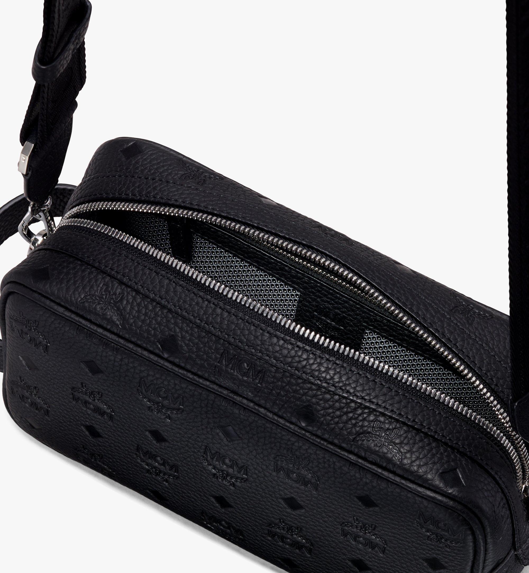 MCM Tivitat Wash Bag in Monogram Leather Black MXZ9ABT28BK001 Alternate View 4