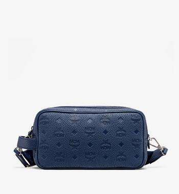 MCM Tivitat Wash Bag in Monogram Leather Alternate View