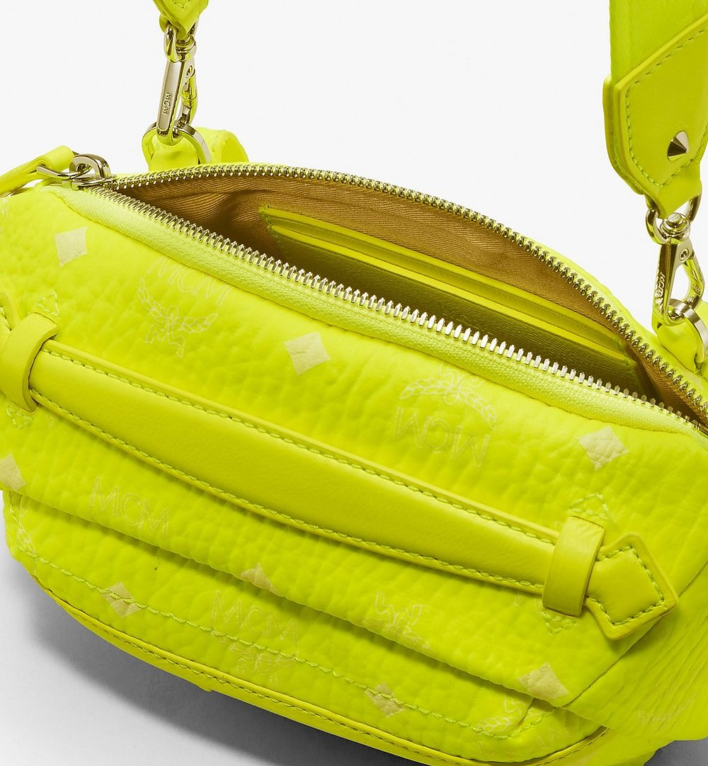 MCM Crossbody Bag in Visetos Yellow MXZ9AVI34YN001 Alternate View 2