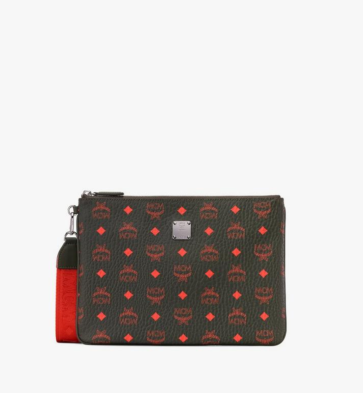 MCM Zip Pouch in Visetos  MXZ9AVI44G8001 Alternate View 1