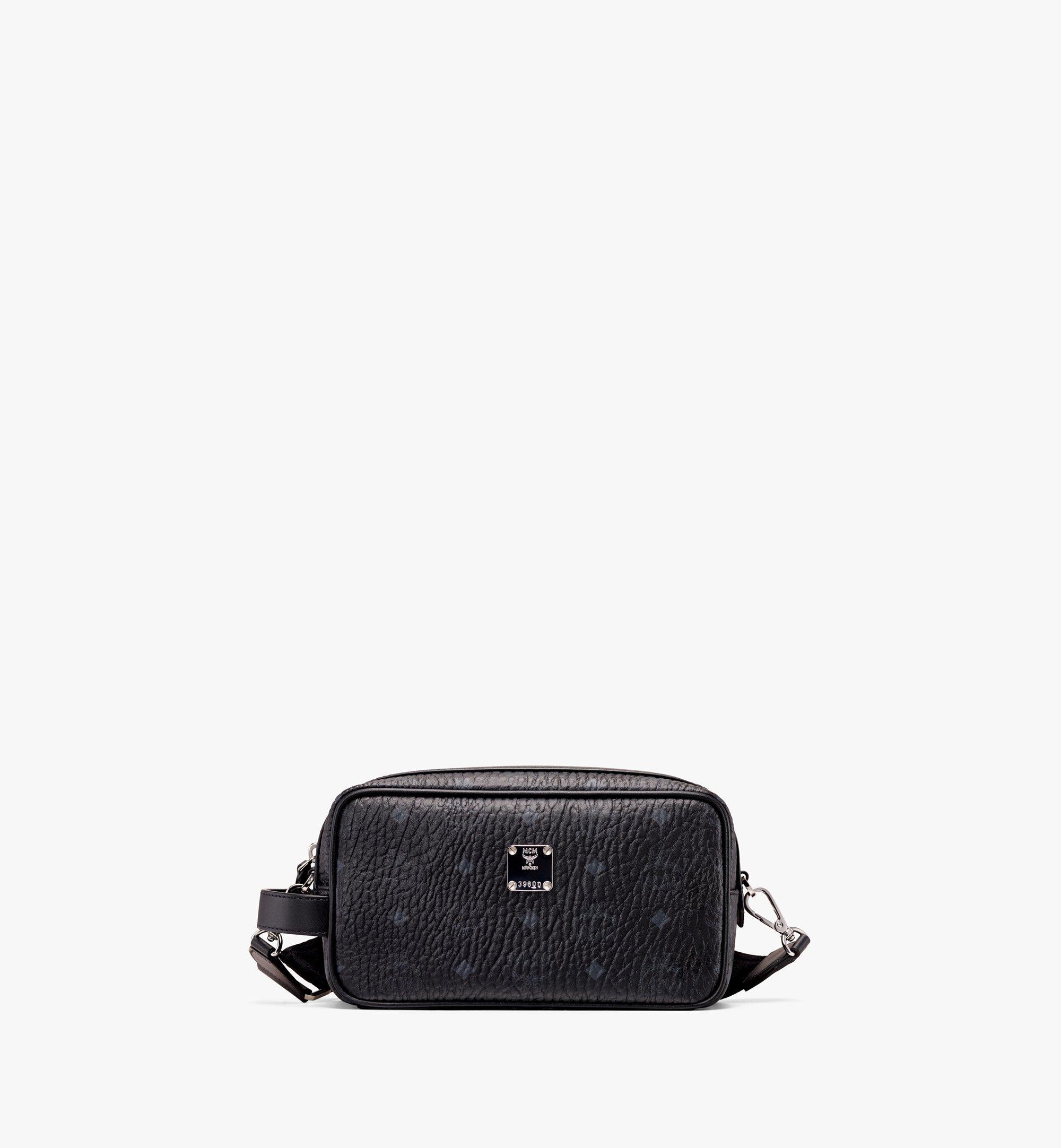 MCM Wash Bag in Visetos Black MXZ9AVI51BK001 Alternate View 1