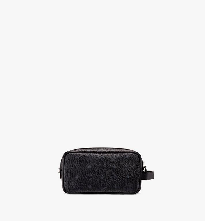 MCM Wash Bag in Visetos Black MXZ9AVI51BK001 Alternate View 3