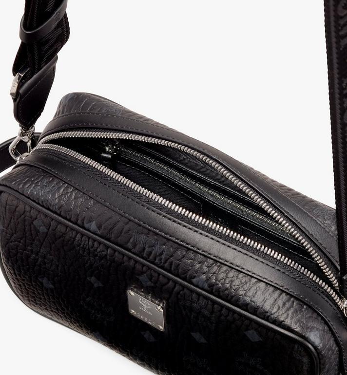 MCM Wash Bag in Visetos Black MXZ9AVI51BK001 Alternate View 4