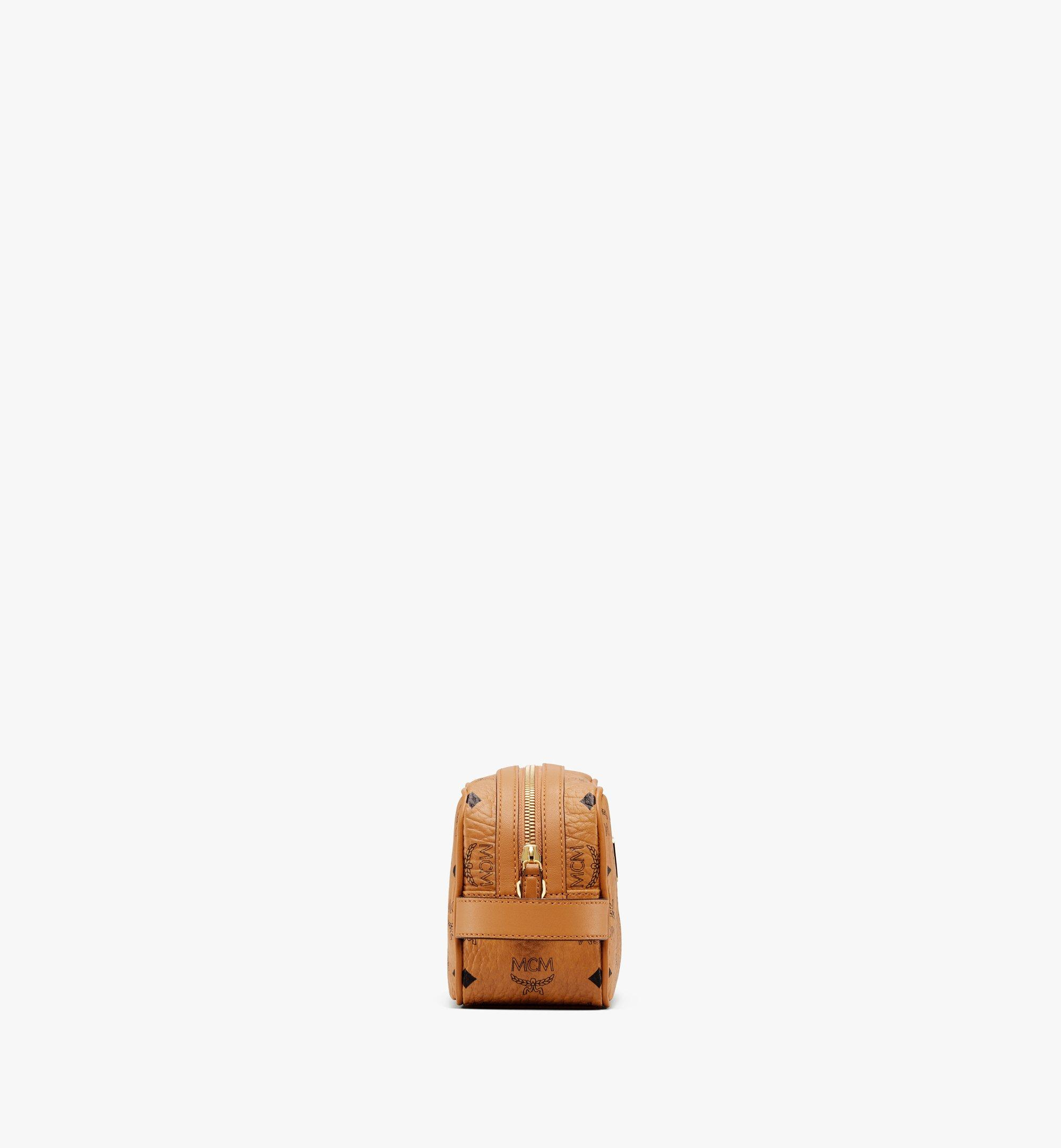MCM Wash Bag in Visetos Cognac MXZ9AVI51CO001 Alternate View 2