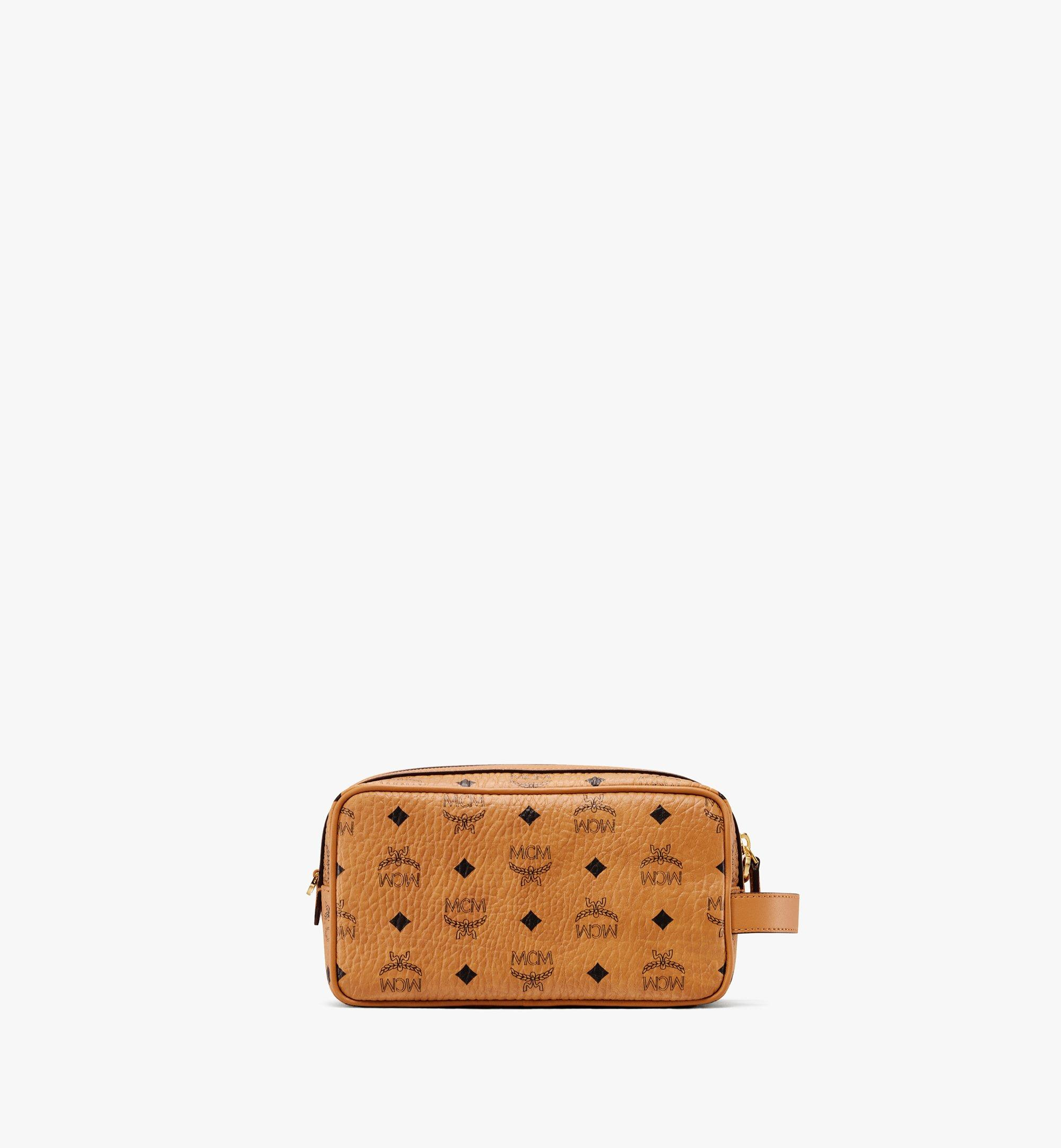 MCM Wash Bag in Visetos Cognac MXZ9AVI51CO001 Alternate View 2