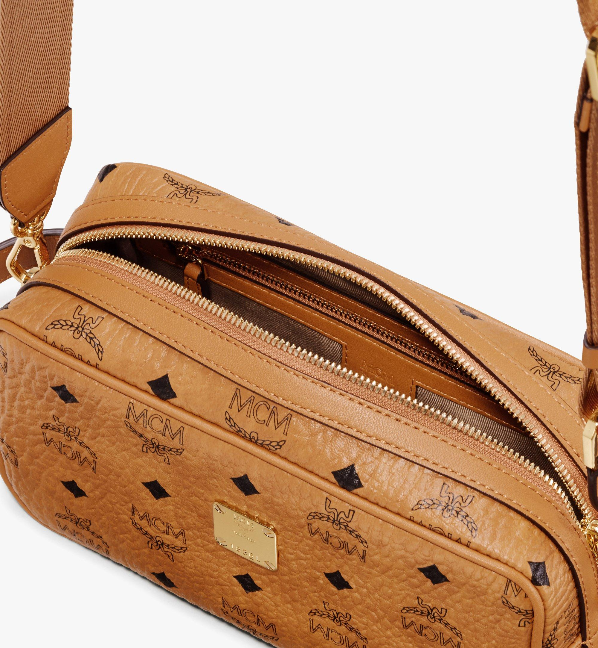 MCM Wash Bag in Visetos Cognac MXZ9AVI51CO001 Alternate View 3