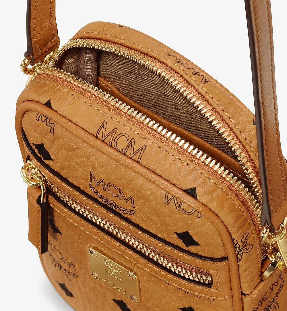 MCM Crossbody Bag in Visetos Cognac MXZ9AVI52CO001 Alternate View 3