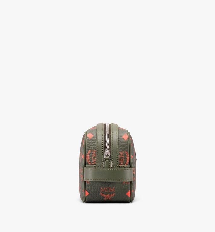 MCM Wash Bag in Visetos Green MXZ9AVI55G8001 Alternate View 2