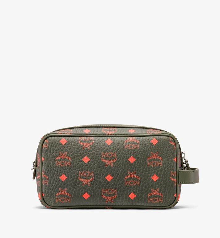 MCM Wash Bag in Visetos  MXZ9AVI55G8001 Alternate View 3