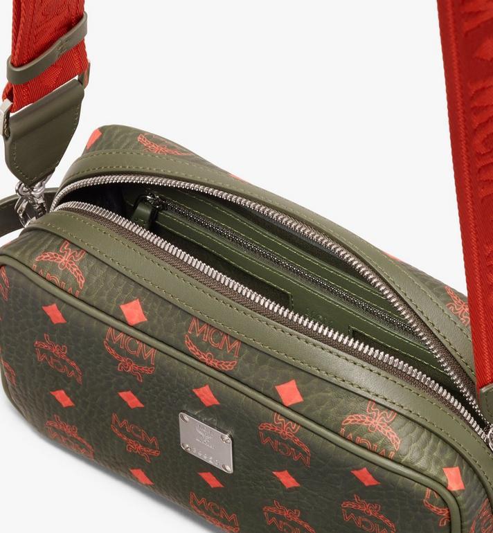MCM Wash Bag in Visetos Green MXZ9AVI55G8001 Alternate View 4