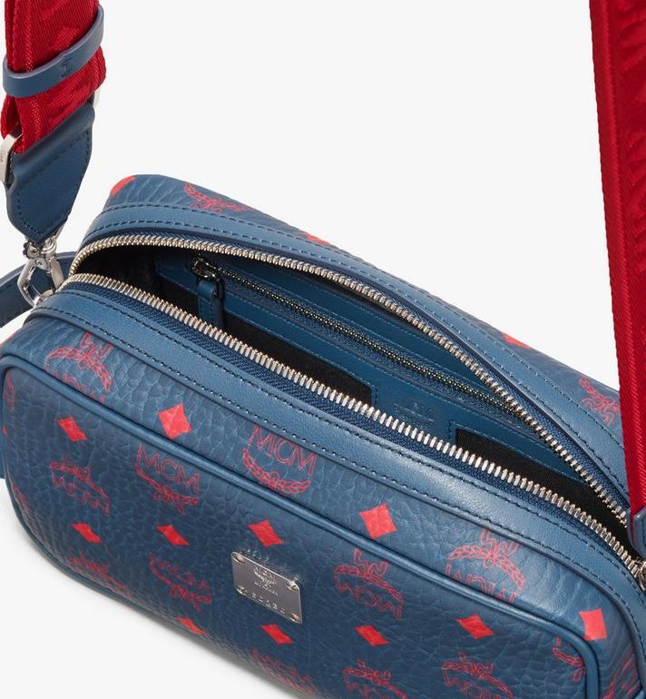 MCM Wash Bag in Visetos Blue MXZ9AVI55VS001 Alternate View 4