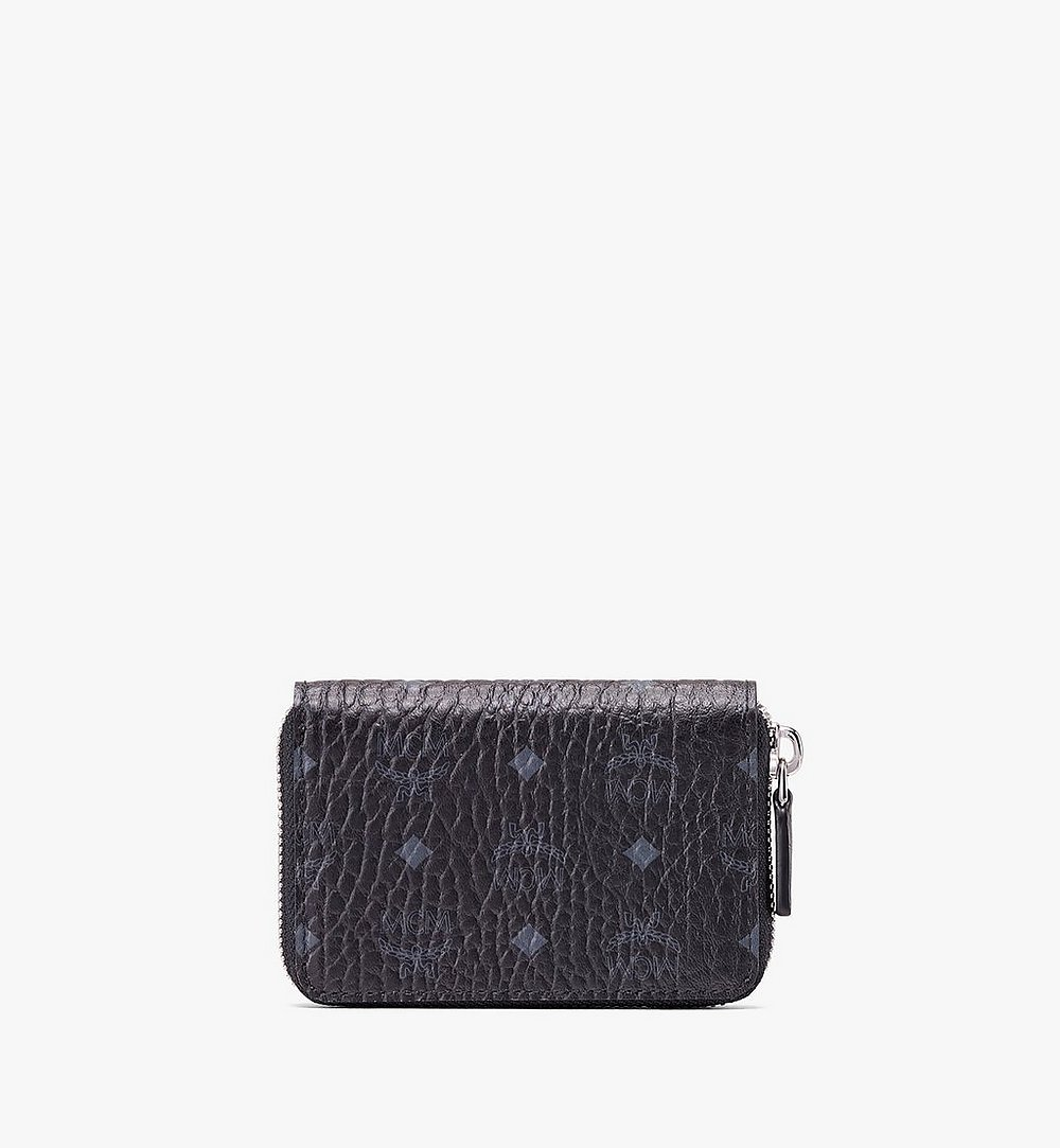 MCM Zip Wallet in Visetos Black MXZ9AVI57BK001 Alternate View 1