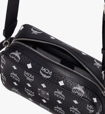 MCM Wash Bag in White Logo Visetos Alternate View 4