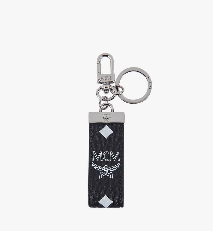 MCM Key Ring in White Logo Visetos Alternate View