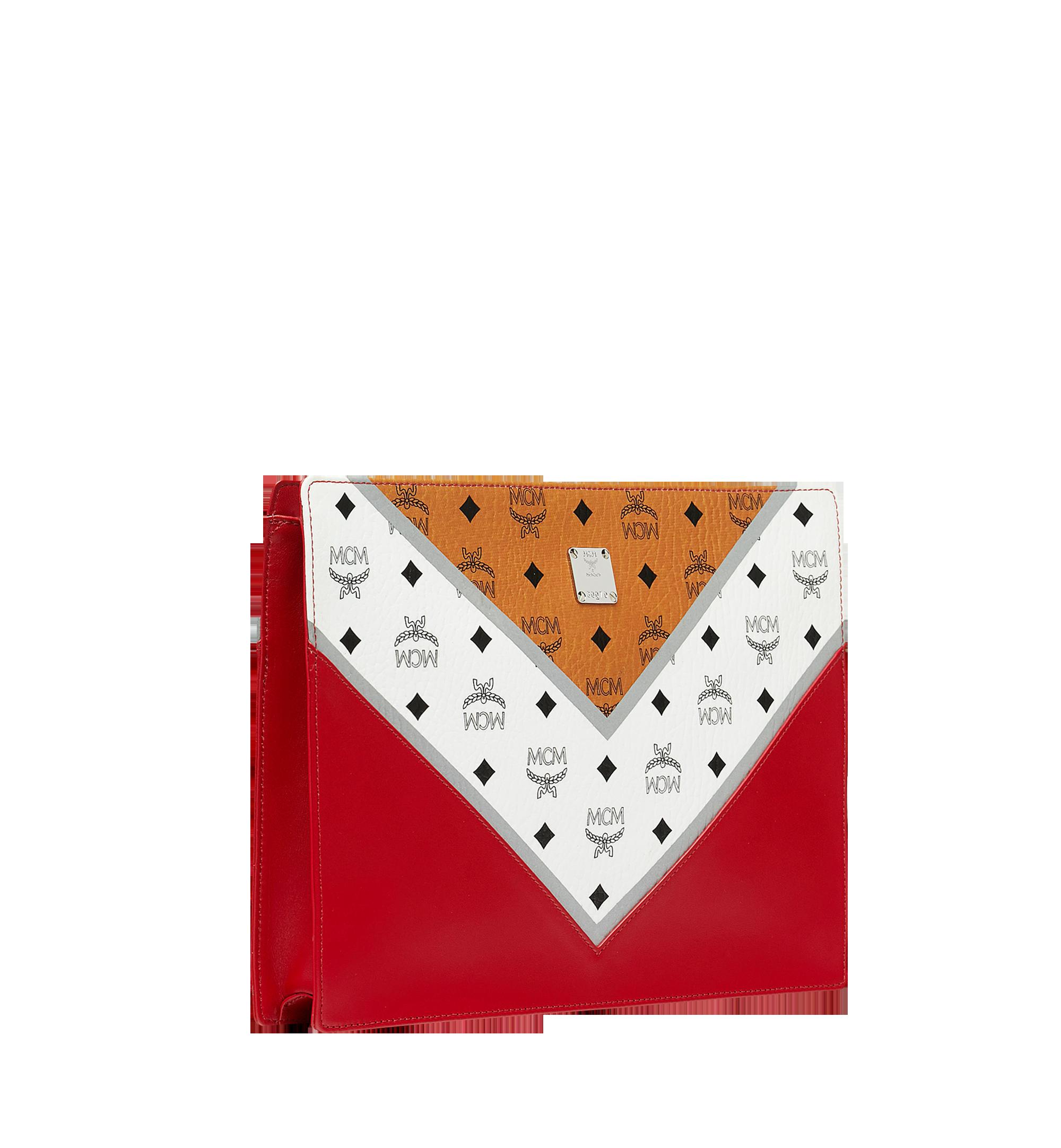 Large Zip Pouch in M Move Visetos Cognac & Ruby Red | MCM® DE