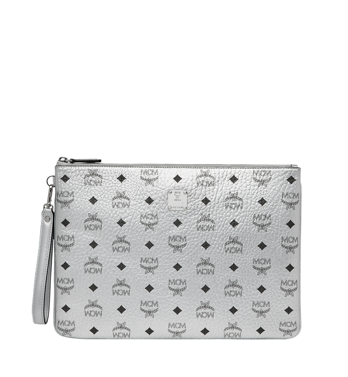 MCM Wristlet Zip Pouch in Visetos Original Alternate View