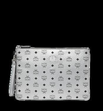 MCM Reissverschlusstasche mit Handgelenksband in Visetos Original Alternate View