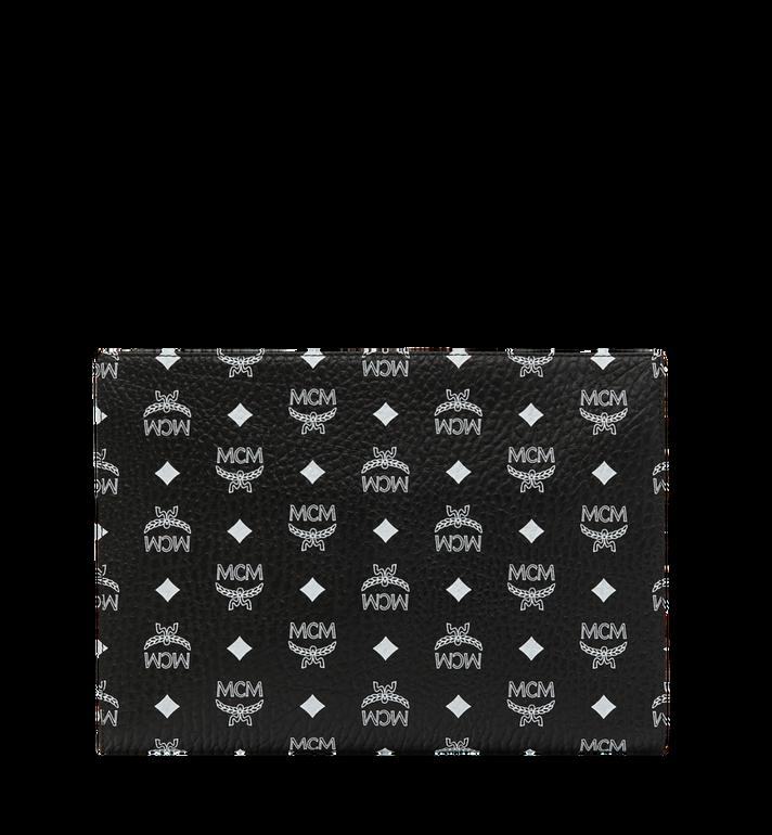 MCM Zip Pouch in White Logo Visetos MXZ9SWA04BV001 AlternateView3