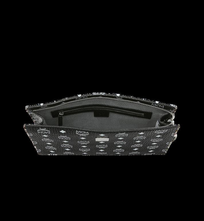 MCM Pochette zippée en Visetos à logo blanc Black MXZ9SWA04BV001 Alternate View 4